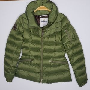 Aeronautics military puffer jacket sz M